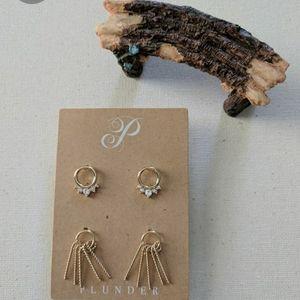 NIB Plunder Daphne Earrings Set
